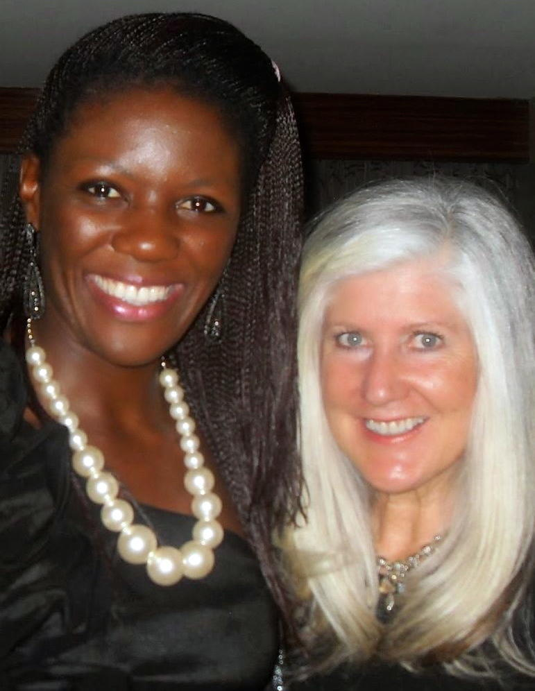 Bih Janet Shufor, with her mentor Shannon McElyea