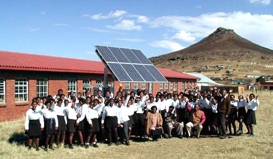 Solar Panels at school in Africa